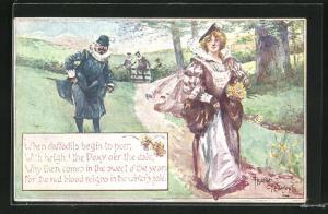 AK William Shakespeare, When daffodils begin to peer