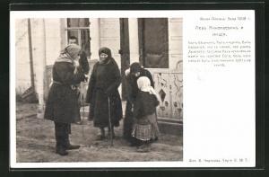 AK Portrait Tolstoi mit Frauen u. einem Mädchen