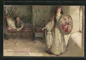 AK Walter Scott, Rebecca Describing the Fight to Ivanhoe