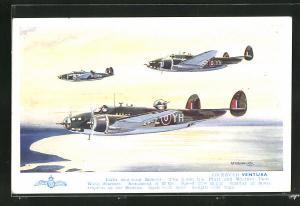 AK Lockheed Ventura, Britische leichte Bomber im Staffelflug