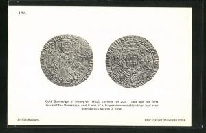 AK Gold Sovereign of Henry VII, This was the first issue of the Sovereign 1495, Geldmünze
