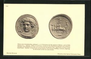 AK Silver coin of Syracuse, By the engraver Kimon, Geldmünze