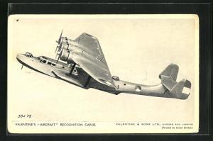 AK Dundee, Valentine & Sons Ltd., The Dornier Do 24, German Reconnaissance Flying Boat