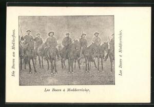 AK Modderrivier, Soldaten in Uniformen zu Pferde, Burenkrieg