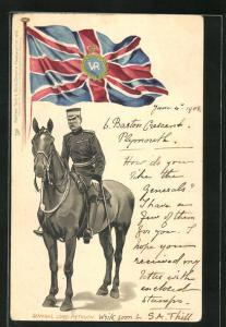 Präge-Lithographie General Lord Methuen, Burenkrieg