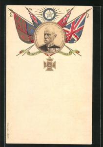 Lithographie Ord. Roberts, Commander in Chief South Afrika, Burenkrieg, britischer Oberkommandierender