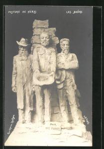 AK Posture de Héros, Les Boers, Figurengruppe, Burenkrieg