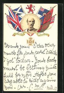 Lithographie Sir George White, Defender of Ladysmith, Burenkrieg