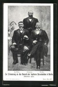 AK de Wet, Delarey & Botha, Besuch der tapferen Burenhelden in Berlin, Oktober 1902