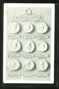AK Iconographia Romana II, historische Münzen, Archäologie, Antike