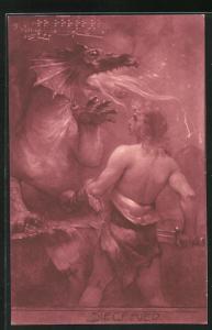 AK Nibelungen, Siegfried kämpft gegen den Drachen
