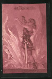 AK Nibelungen, Siegfried steht in den Flammen