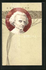 Präge-AK Komponist Louis Hector Berlioz