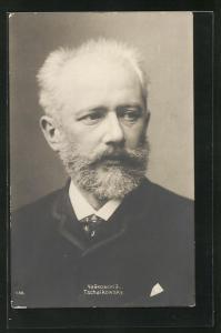 AK Portrait des Musiker's Pjotr Iljitsch Tschaikowski