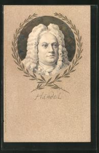 Präge-AK Bildnis Georg-Friedrich Händel