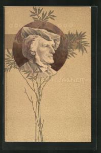 Präge-AK Bildnis Richard Wagner