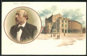 AK Hans von Buelow, Portrait und Haus