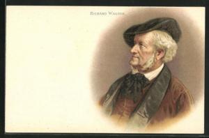 AK Portrait Richard Wagner mit Hut