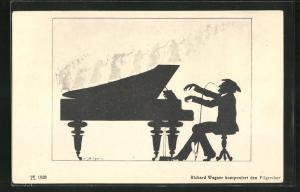 AK Richard Wagner komponiert den Pilgerchor