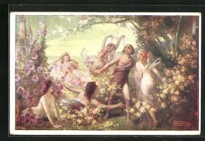 AK Parsival und die Blumenmädchen