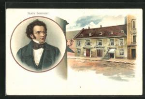 AK Portrait des Musikers Franz Schubert
