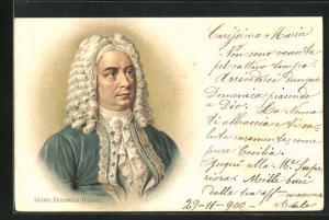 AK Bildnis des Musikers Georg Friedrich Händel