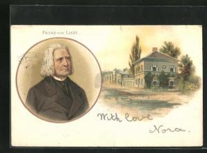 AK Portrait des Musikers Franz von Liszt