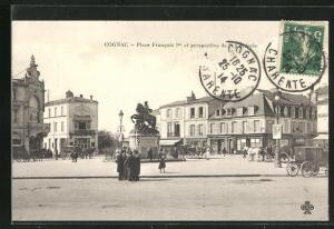 AK Cognac, Place Francois Ier et perspective de la Corderie