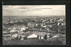 AK Angouleme, Une vue sur les Gares et le Faubourg l`Houmeau prise du Boulevard Pasteur