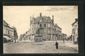 AK Cognac, Place St-Martin et Perspective des Rues de Pons et de Barbezieux