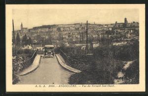 AK Angouleme, Vue du Versant Sud-Ouest