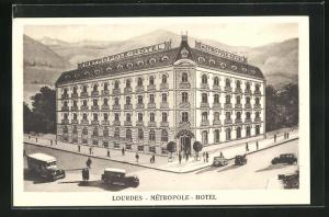 AK Lourdes, Metropole-Hotel, Eckfassade