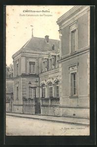 AK Chatillon-sur-Seine, Ecole Communale des Garcons