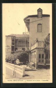 AK Lourdes, Hotel Gesta-Baylac, 4, Boulevard de la Grotte