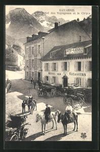 AK Gavarnie, Hotel des Voyageurs et le Cirque