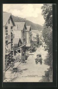 AK Capvern-Bains, Rue principale, Strassenpartie