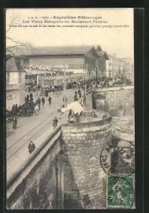 AK Angouleme, Les Vieux Remparts au Boulevard Pasteur