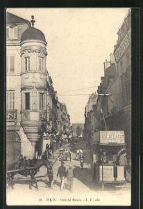 AK Dijon, Coin du Miroir, Strassenbahn