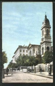 AK Ajaccio, Cours Napoleon et Eglise St. Roch