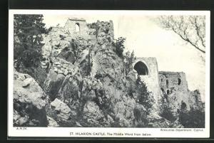 AK Kyrenia, St. Hilarion Castle, The Middle Ward from below