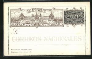 Lithographie Guatemala, Republica de Guatemala, Palast, Ganzsache