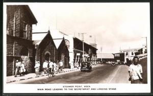 AK Aden, Steamer Point, Main Road Leading to the Secretariat and Landing Stage