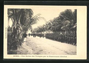 AK Boma, Une Revue des Troupes par le Gouverneur General