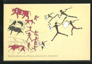 AK Hermon, Basutoland, Bushmen painting, mission station