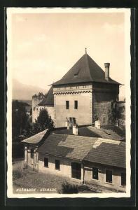 AK Kesmark, Blick auf Gebäudeanlage mit Turm