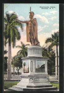 AK Honolulu, HI, Kamehameha Statue