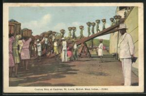 AK St. Lucia / British West Indies, Coaling Ship at Castries