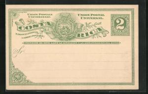 Lithographie Costa Rica, Tarjeta Postal, Ganzsache