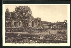 AK Angkor-Vath, Ruines, Aile Sud des entrees occidentales