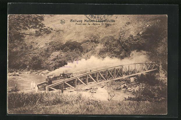 AK Leopoldville, Pont sur la rivière N` Pozo 0